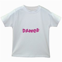 Pink Dance  Kids White T-Shirts