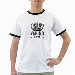 Vaping Queen  Ringer T-Shirts