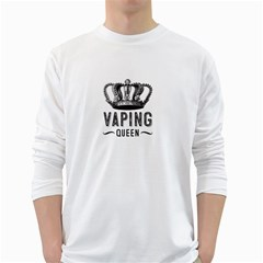 Vaping Queen  White Long Sleeve T Shirts