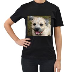 Border Terrier Women s T-Shirt (Black) (Two Sided)