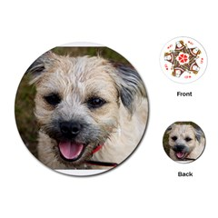 Border Terrier Playing Cards (Round)