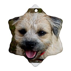 Border Terrier Ornament (Snowflake)