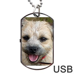 Border Terrier Dog Tag Usb Flash (one Side)