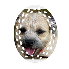 Border Terrier Oval Filigree Ornament (2-Side)