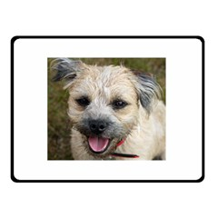 Border Terrier Double Sided Fleece Blanket (small)