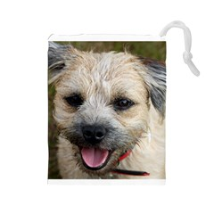 Border Terrier Drawstring Pouches (Large)