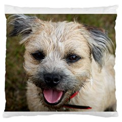 Border Terrier Standard Flano Cushion Cases (One Side)