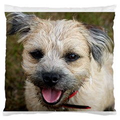 Border Terrier Large Flano Cushion Cases (One Side)