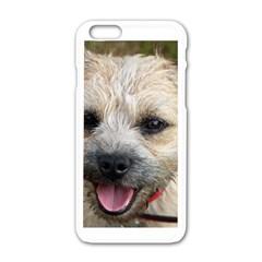 Border Terrier Apple iPhone 6 White Enamel Case