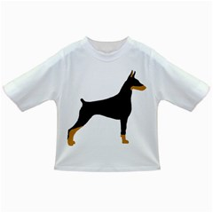 Doberman Pinscher black and tan silhouette Infant/Toddler T-Shirts