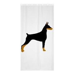 Doberman Pinscher black and tan silhouette Shower Curtain 36  x 72  (Stall)