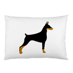 Doberman Pinscher black and tan silhouette Pillow Cases (Two Sides)