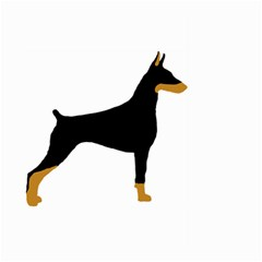 Doberman Pinscher black and tan silhouette Large Garden Flag (Two Sides)