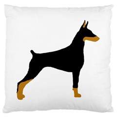 Doberman Pinscher black and tan silhouette Standard Flano Cushion Cases (Two Sides)
