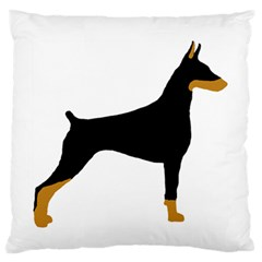 Doberman Pinscher black and tan silhouette Large Flano Cushion Cases (One Side)