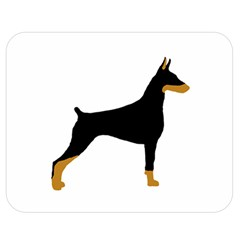 Doberman Pinscher black and tan silhouette Double Sided Flano Blanket (Medium)