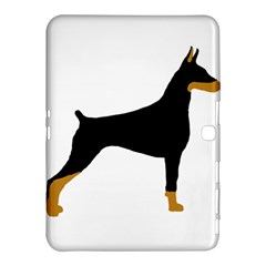 Doberman Pinscher black and tan silhouette Samsung Galaxy Tab 4 (10.1 ) Hardshell Case