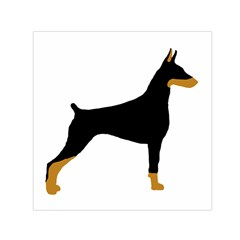 Doberman Pinscher black and tan silhouette Small Satin Scarf (Square)