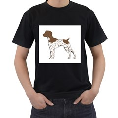 German Shorthair Pointer Silo Color Men s T-Shirt (Black) (Two Sided)