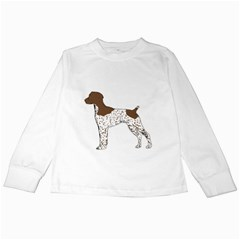 German Shorthair Pointer Silo Color Kids Long Sleeve T-Shirts
