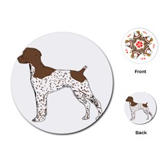 German Shorthair Pointer Silo Color Playing Cards (round)