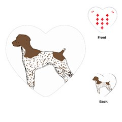 German Shorthair Pointer Silo Color Playing Cards (Heart)