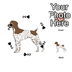 German Shorthair Pointer Silo Color Playing Cards 54 (Round)