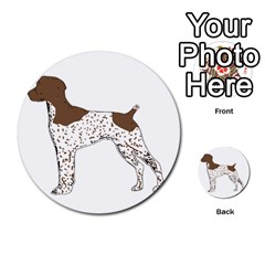German Shorthair Pointer Silo Color Multi Purpose Cards (round)