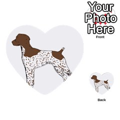 German Shorthair Pointer Silo Color Multi-purpose Cards (Heart)