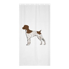 German Shorthair Pointer Silo Color Shower Curtain 36  x 72  (Stall)