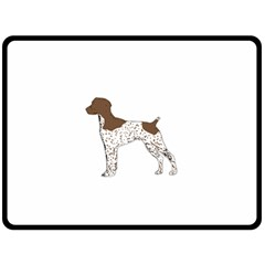 German Shorthair Pointer Silo Color Double Sided Fleece Blanket (Large)