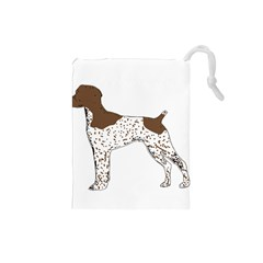 German Shorthair Pointer Silo Color Drawstring Pouches (Small)