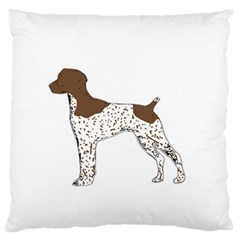 German Shorthair Pointer Silo Color Standard Flano Cushion Cases (Two Sides)