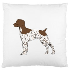 German Shorthair Pointer Silo Color Large Flano Cushion Cases (One Side)
