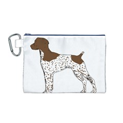 German Shorthair Pointer Silo Color Canvas Cosmetic Bag (M)