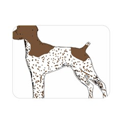 German Shorthair Pointer Silo Color Double Sided Flano Blanket (Mini)