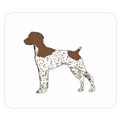 German Shorthair Pointer Silo Color Double Sided Flano Blanket (Small)
