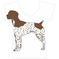 German Shorthair Pointer Silo Color Women s V-Neck Cap Sleeve Top