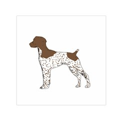 German Shorthair Pointer Silo Color Small Satin Scarf (Square)