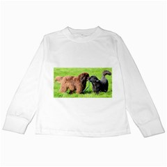 2 Newfies Kids Long Sleeve T-Shirts