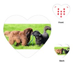 2 Newfies Playing Cards (Heart)
