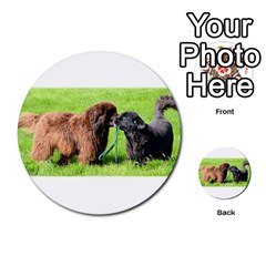 2 Newfies Multi-purpose Cards (Round)