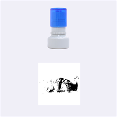 2 Newfies Rubber Round Stamps (Small)