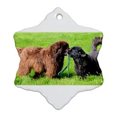 2 Newfies Ornament (Snowflake)