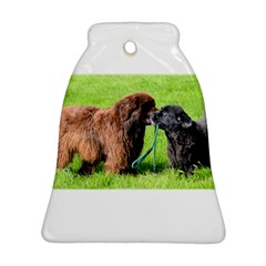 2 Newfies Ornament (Bell)