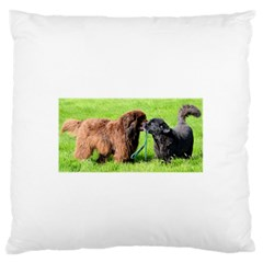 2 Newfies Standard Flano Cushion Cases (One Side)