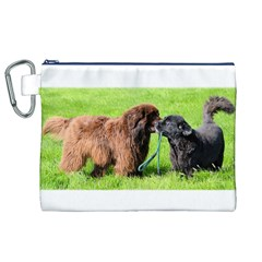 2 Newfies Canvas Cosmetic Bag (XL)