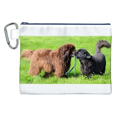 2 Newfies Canvas Cosmetic Bag (XXL)