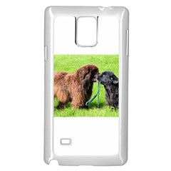 2 Newfies Samsung Galaxy Note 4 Case (White)