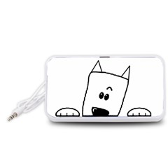 Peeping Westie Portable Speaker (White)